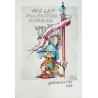 Jacek  Skrzydlewski - oryginalny projekt plakatu na 100-lecie komiksu